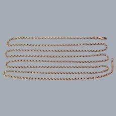 A Victorian 15 ct Gold Long Guard Chain. Circa 1890