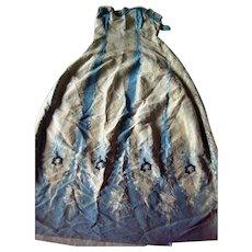 An Altered 19th Century Silk Dress. Circa 1860