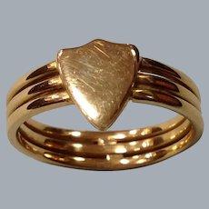A Victorian 18 ct Gold Shield Ring. Circa 1890