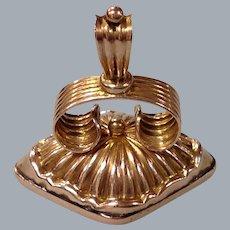 A Victorian 9ct Rose Gold Fob Seal. Circa 1895