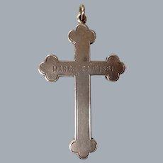 A Victorian Sterling Silver Cross. Circa 1881