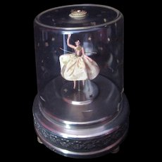 Music Box glass enclosed with dancing Ballerina