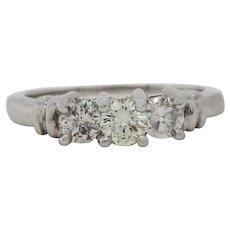 Classic Three Stone Diamond Platinum Engagement Ring