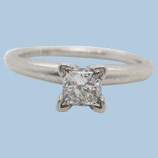 Platinum Diamond Ritani Solitaire Engagement Ring