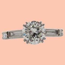 Vintage 1950's Platinum Diamond Engagement Ring