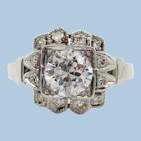Original Art Deco Platinum Diamond Engagement Ring