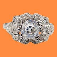 1925 Art Deco Platinum Diamond Engagement Ring