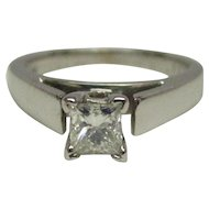 GIA 0.31 Carat Diamond 14 Karat Gold Ring