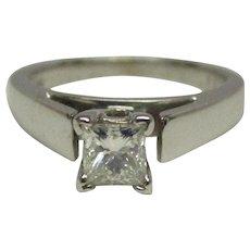 GIA 0.31 Carat Diamond 14 Karat Gold Ring