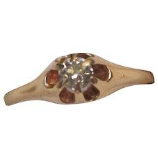 Victorian Diamond 14 Karat Gold Ring