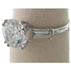 1.54 ct. Diamond Platinum Engagement Ring