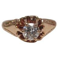 Victorian Diamond 14 Karat Gold Engagement Ring, circa 1900