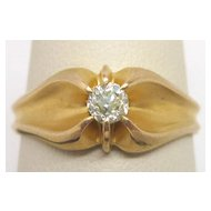 Victorian 14K Gold Diamond Ring 0.25 carat