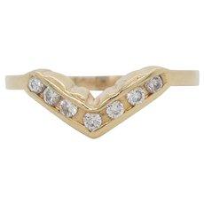 14 Karat Yellow Gold Diamond Band Ring