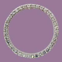 Roberta Coin 18 Karat White Gold Diamond Circle Pendant