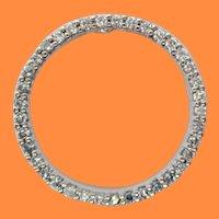 Roberta Coin 18 Karat White Gold Diamond Circle Pendant