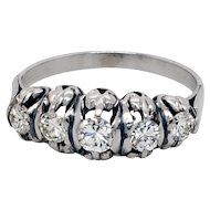 Art Deco Style Diamond Platinum Ring