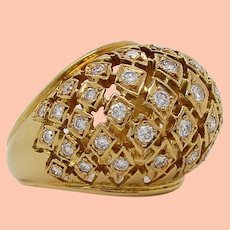 18K Yellow Gold Lalaounis Diamond Ring