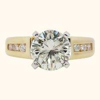14 Karat Yellow Gold 1.5+ Carat Diamond Engagement Ring