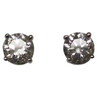 Diamond 14 Karat Gold Stud Earrings