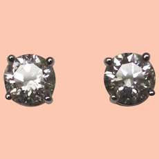 Diamond 14 Karat Gold Stud Earrings