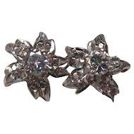 Diamond 14 Karat Gold Flower Earrings