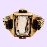 Original Victorian White Sapphire Engagement Ring
