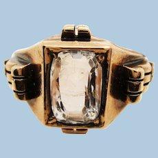 Original Victorian White Sapphire Engagement Ring