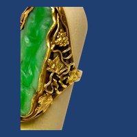1914 Arts and Crafts Jade Ring