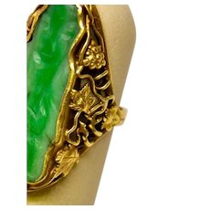 1914 Arts and Crafts Jade Ring