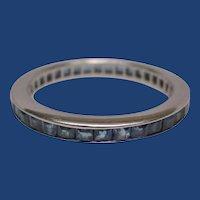 Platinum Sapphire Eternity Band Ring