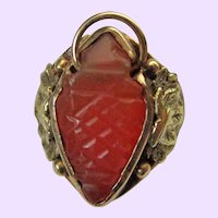 Arts and Crafts Carnelian Gold Ring