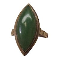 Jade 14 Karat Gold Ring
