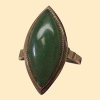 Jade 14 Karat Gold Ring