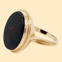 Bloodstone 14 Karat Gold Signet Ring