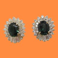Natural Color Change Sapphires 14 Karat Yellow Gold Diamond Stud Earrings