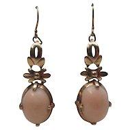 Angel Skin Coral 14 Karat Gold Dangle Earrings