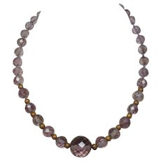 Victorian Etruscan Revival Amethyst Bead Necklace