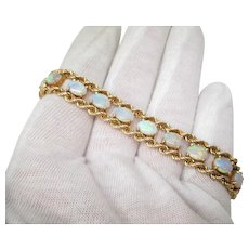 Opal Gold Bracelet