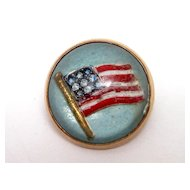 Rare WWI American Flag Essex Crystal Victory Pin