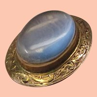 Victorian Moonstone Gold Pin