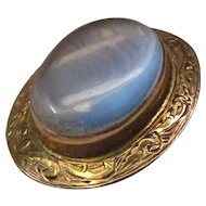 Victorian Moonstone Gold Pin