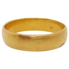 1850 Victorian 22 Karat Yellow Gold Wedding Band with Hallmarks