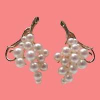 Pearl 14 Karat Gold Clip-On Earrings