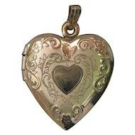 Vintage 14K Gold Heart Locket