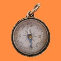 1880 Victorian 14 Karat Rose Gold Compass Watch Fob