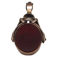 Victorian 9 Karat Gold Bloodstone and Carnelian Fob