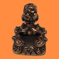 14 Karat Gold Victorian Chalcedony Fob
