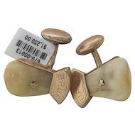 B.P.O.E. Elk Tooth Cufflinks in 14K Rose Gold