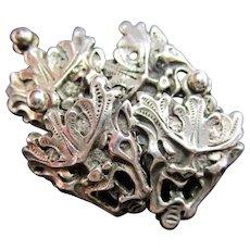 Art Nouveau Peruzzi Sterling Silver Bacchus Mask Cufflinks